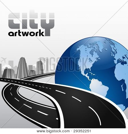 city abstract international artwork