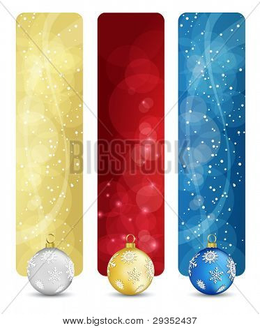 Satz von Winter Christmas vertikale Banner Vol. 02