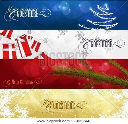 Satz von Winter Christmas Banner Vol. 01
