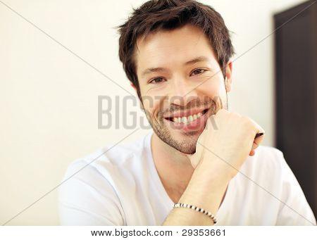 Smiling Young Man In His Twenties
