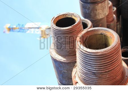 Drill pipe with Drilling Rig