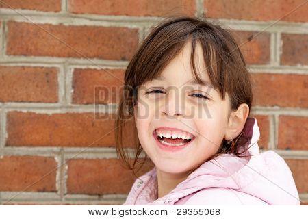 Invierno Retrato de una niña feliz
