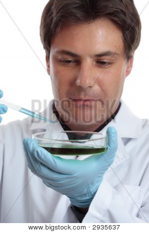 Scientist Researcher Testing Analysing Lab Work