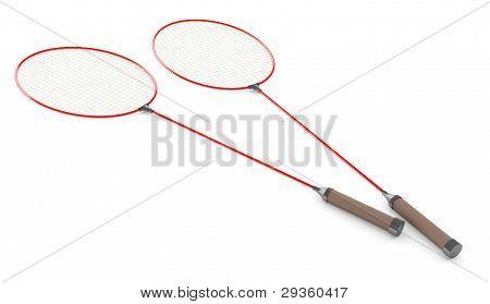 Badminton Racket 3D Model