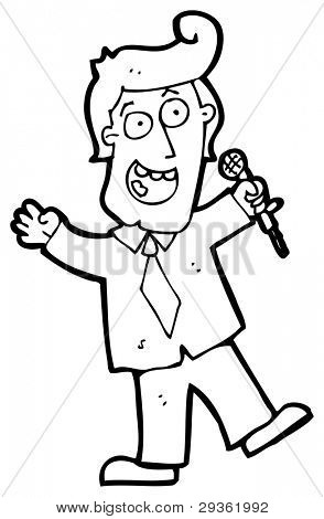 game show host cartoon (raster version)