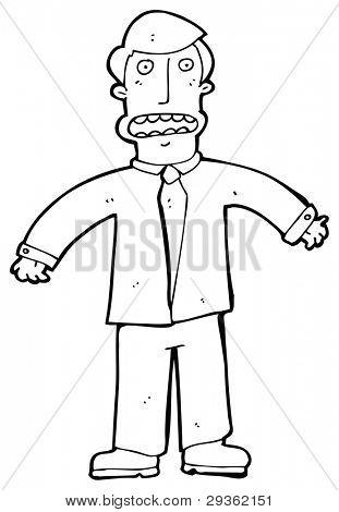 stressed businessman cartoon (raster version)