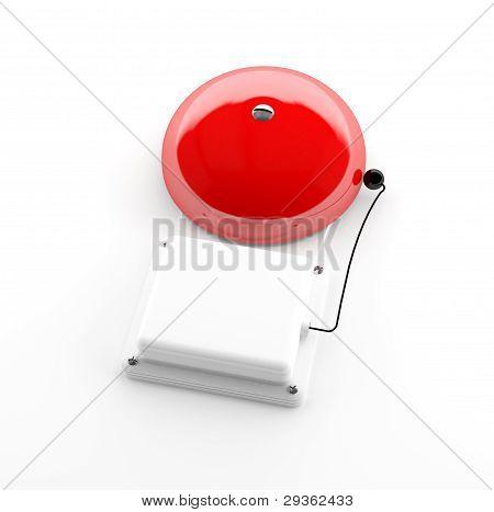 Red Alarm Bell 3D Model