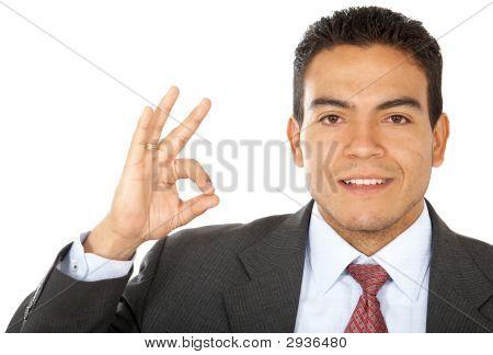 Business Man - Ok Sign