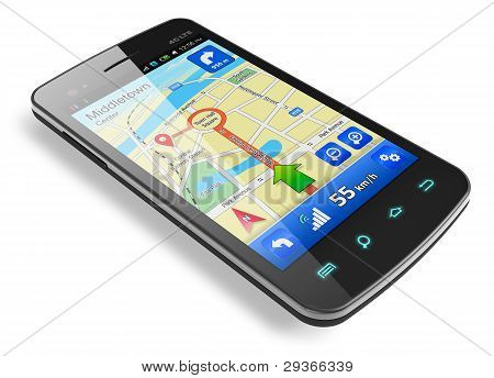 Smartphone with GPS navigation