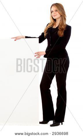 Mulher de negócios - adicionar o Banner