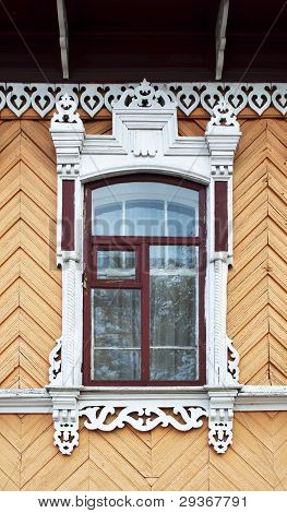 Old Wooden Decorated Window