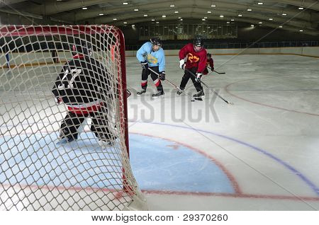 Youth Hockey Action