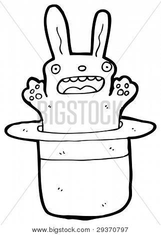 rabbit in hat cartoon (raster version)