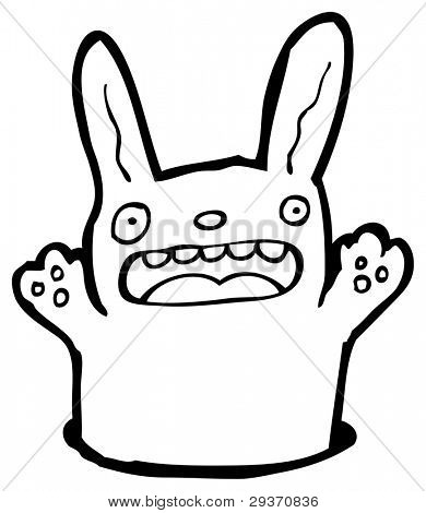 rabbit cartoon (raster version)