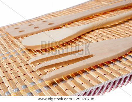 Set Of Three Wooden Kitchenware