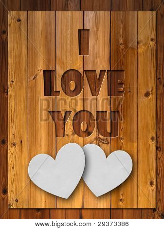 I Love You Letter Carved Wood
