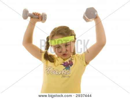 Morgan Lifting Weights