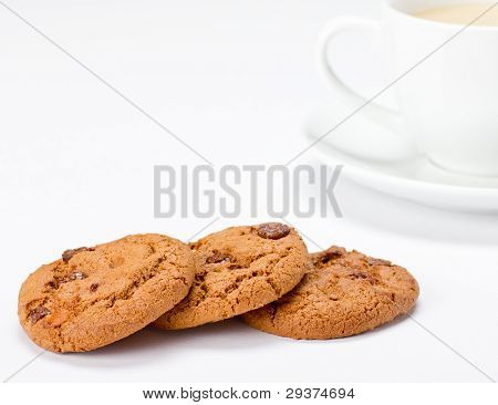 Choc Chip Cookies and Coffee