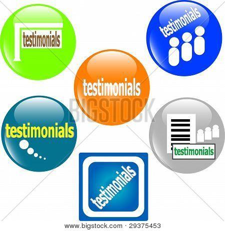 Button Web icon testimonials