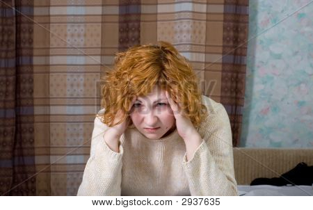 Young Suffering Woman