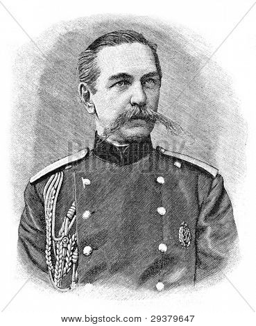 Governor-General Peter Orzhevsky. Engraving by Schyubler. Published in magazine