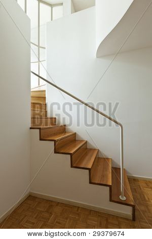 Bright duplex with hardwood floors,wooden stairs