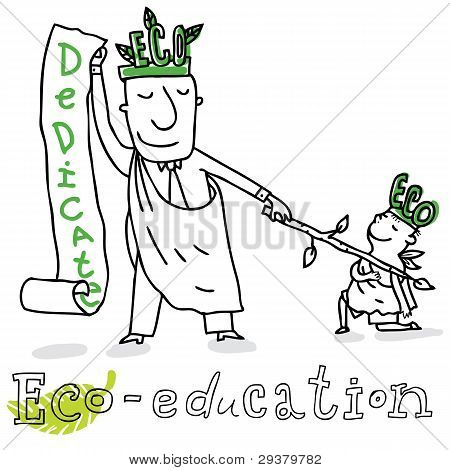 Educación de eco, Eco_education.eps de dibujo vectorial