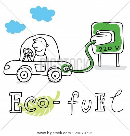 Eco fuel, vector drawing Eco_fuel1.eps