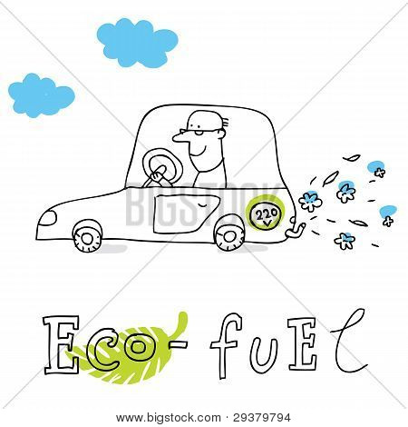 Eco fuel, vector drawing Eco_fuel
