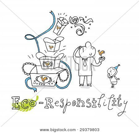 Eco responsibility, vector drawing Eco_responsibility.eps