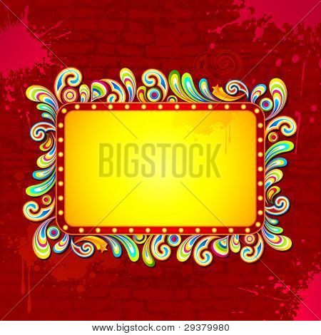 illustration of abstract colorful background for Holi