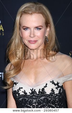 LOS ANGELES - JAN 27:  Nicole Kidman arrives at the AUSTRALIAN ACADEMY INTERNATIONAL AWARDS at Soho House on January 27, 2012 in West Hollywood, CA