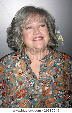 LOS ANGELES - JAN 27:  Kathy Bates arrives at the AUSTRALIAN ACADEMY INTERNATIONAL AWARDS at Soho House on January 27, 2012 in West Hollywood, CA