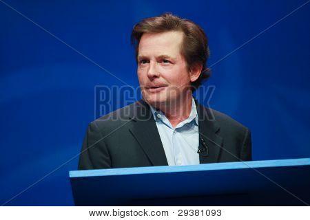 Orlando, Florida - January 16, 2012: Actor Michael J. Fox Delivers An Address To Ibm Lotusphere 2012