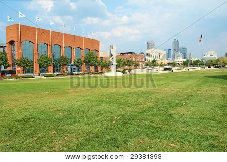 The Ncaa Hall Of Champions And Downtown Indianapolis, Indiana
