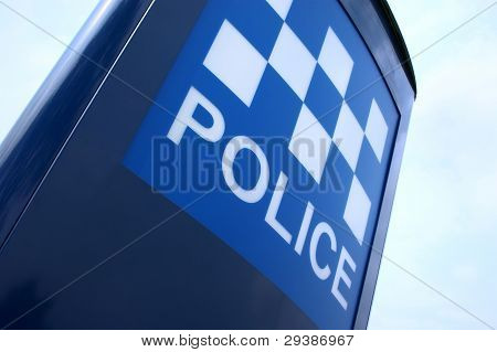 Police Sign In The Uk