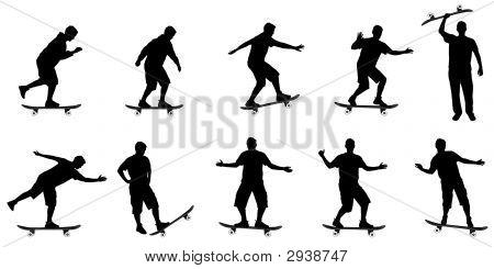 Skate Board silhuetas