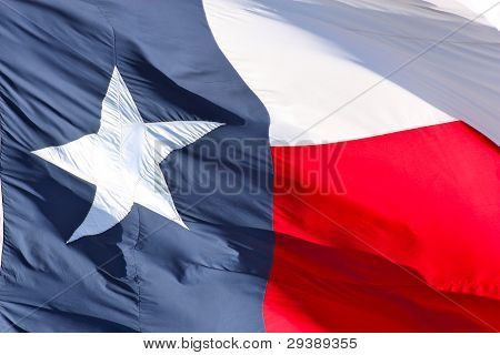 Texas flag close up