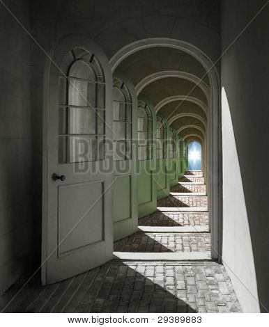Arched Doorway To Heaven