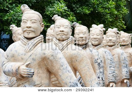 Army of terracotta warriors,one of the most famous  historical sights in china
