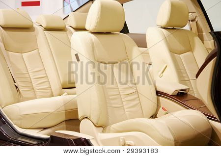 Modern interior of a new car.