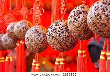 decorative balls in holiday.