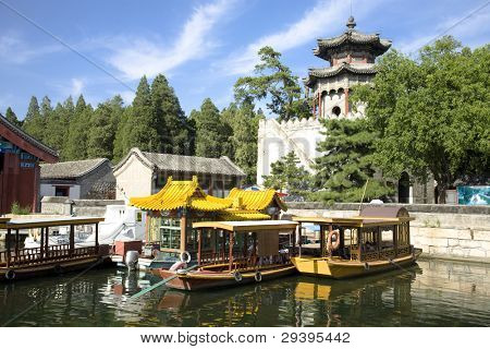 royal garden in summer palace, Beijing,China.