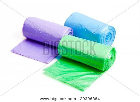 Rolls of trash bags