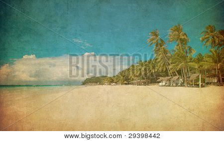 Grunge Image der tropischen Strand