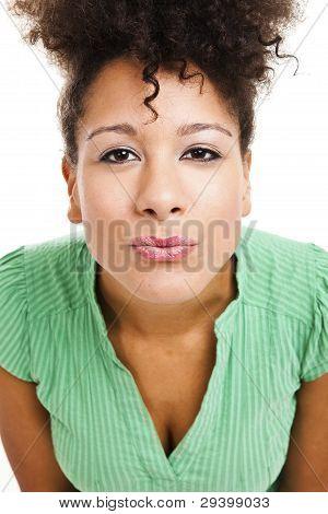 Mulher, soprando um beijo