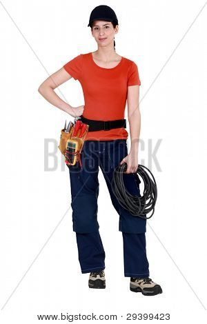 Mantenimiento de cableado y usar un cinturón de herramientas