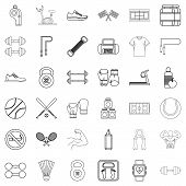 Heartbeat Icons Set. Outline Style Of 36 Heartbeat Icons For Web Isolated On White Background poster