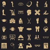 Human Anatomy Icons Set. Simple Style Of 36 Human Anatomy Vector Icons For Web For Any Design poster