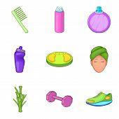 Folk Remedy Icons Set. Cartoon Set Of 9 Folk Remedy Icons For Web Isolated On White Background poster